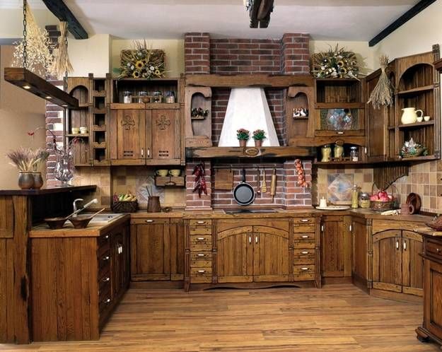 Kitchen Cabinets Hanging From Ceiling 30 Country Kitchens Blending Traditions And Modern Ideas