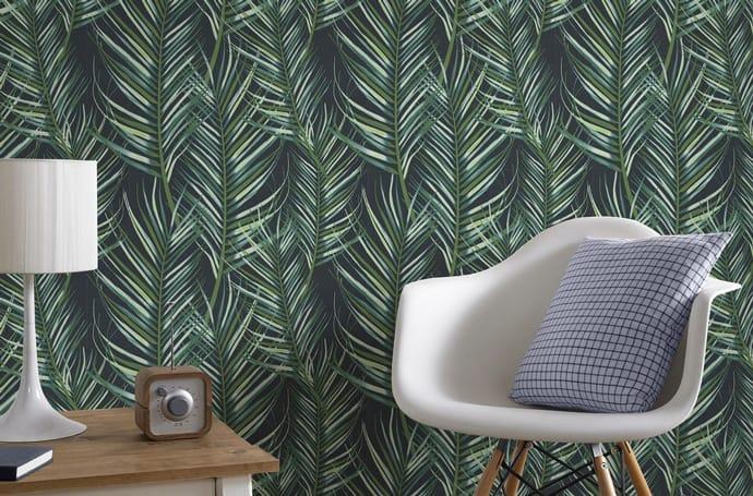 palm leaf print wallpaper
