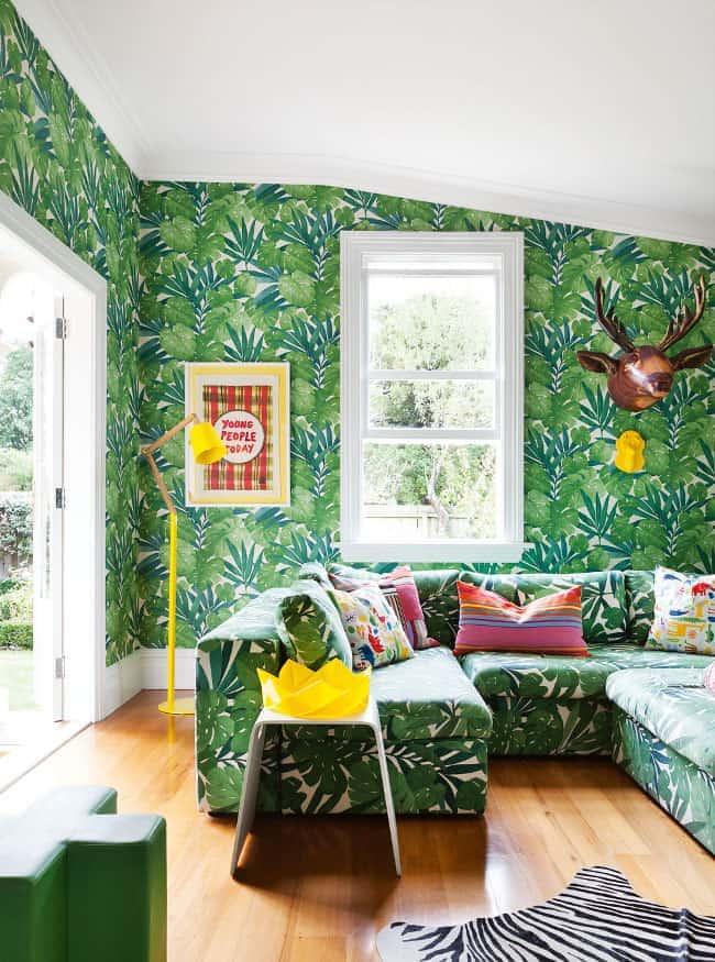 Palm Leaf Print Interior Design