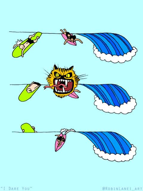 Surfing Cartoons / Artist Robin Lanei's Struggle is Real… and Hilarious