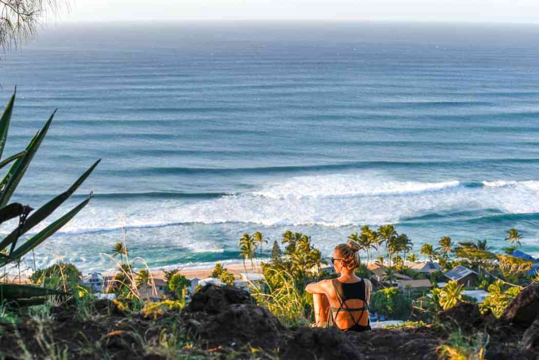 North Shore Oahu sunset pillbox hike