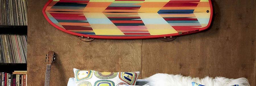 surfboard racks / single surfboard wall mount
