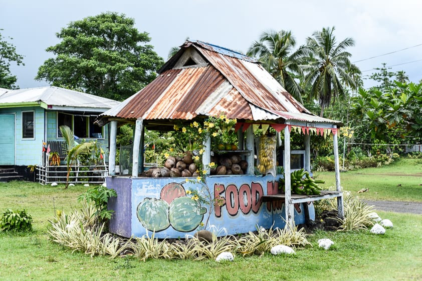 samoa fruit stand