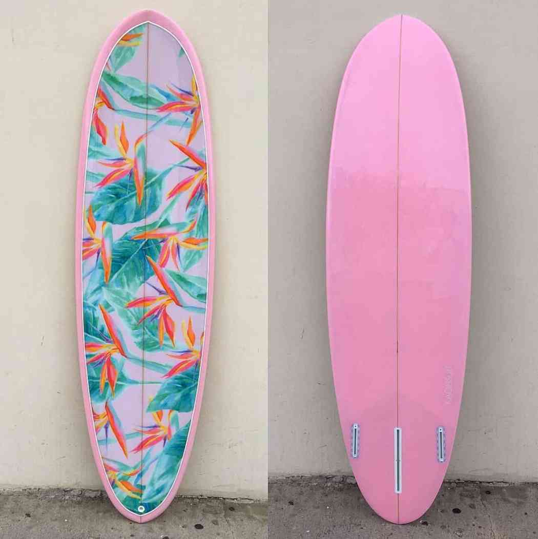 surfboard birds of paradise print pierson shapes