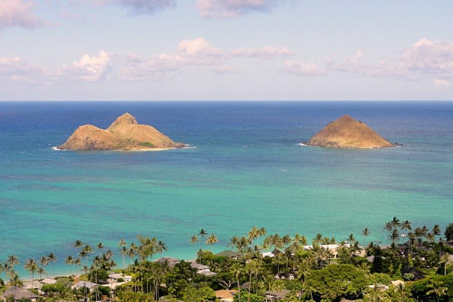 Lanikai Pillboxes Kailua Oahu hawaii