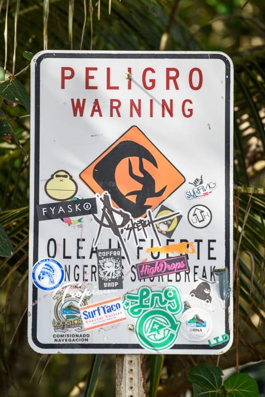 surfing puerto rico danger sign