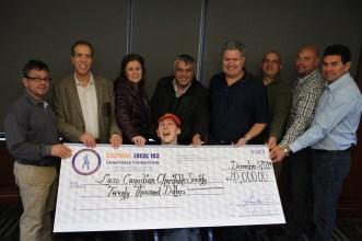 Liuna Local 183 Charitable Foundation to Toronto Centre