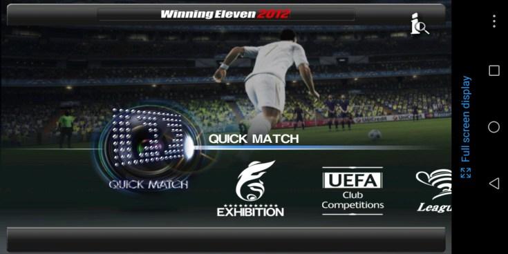 Screenshot of Winning Eleven 2012