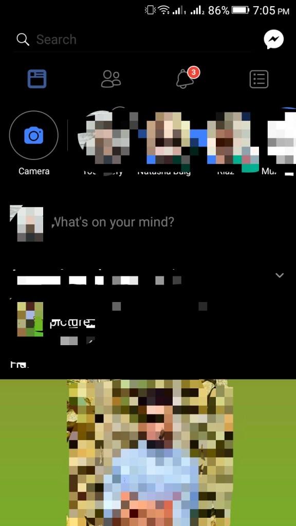 ScreenShot of Facebook Black