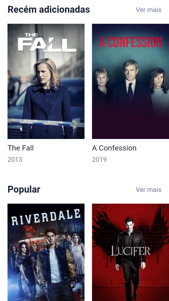 Screenshot of SerieFlix For Android