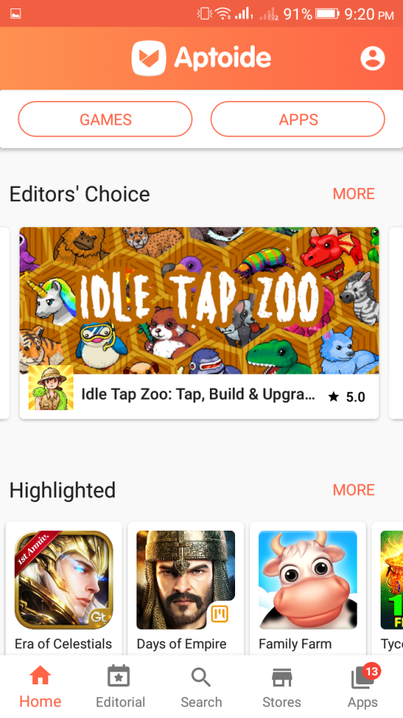 Screenshot of Aptoide Mod Apk