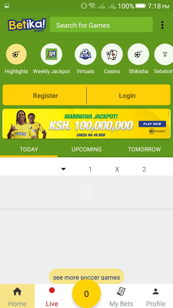 Screenshot of Betika App Apk