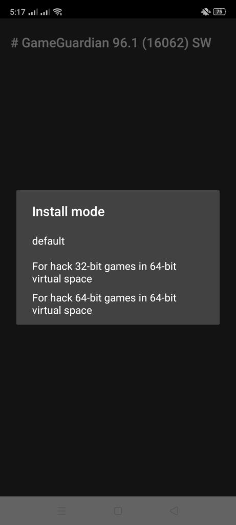 Screenshot of Game Guardian App