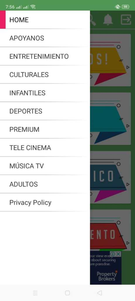Screenshot of MapacheTV
