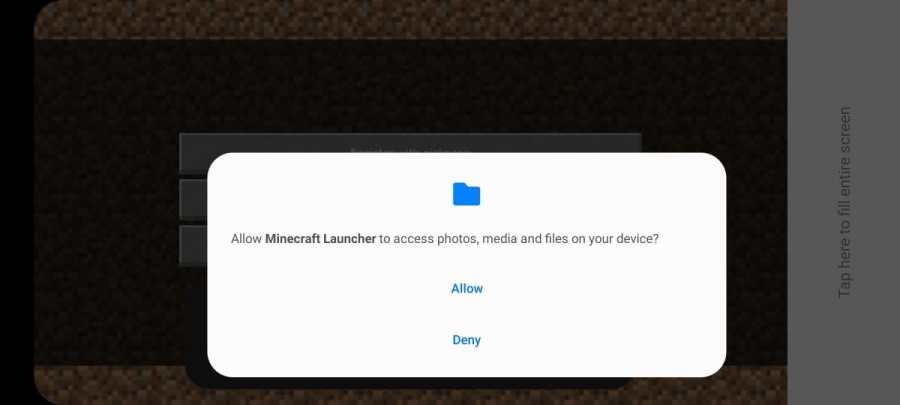 Screenshot of Minecraft Launcher App