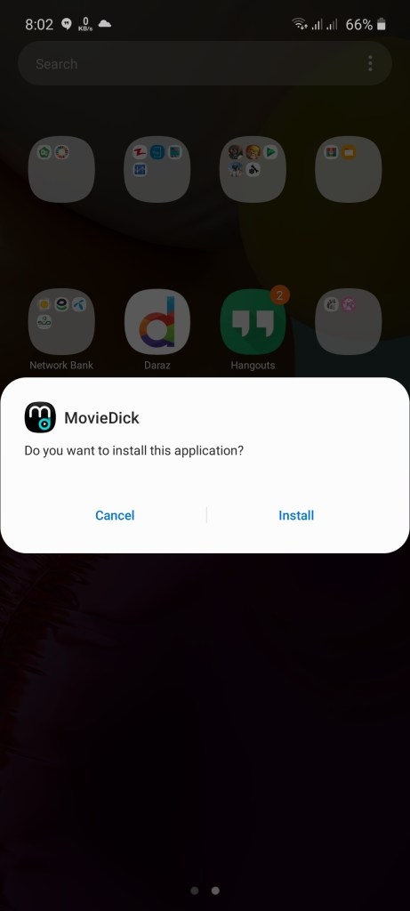 Screenshot of Movidy App
