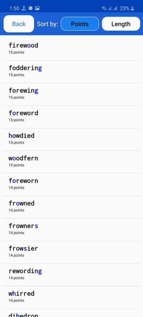 Screenshot of Words With Friends Cheat Apk