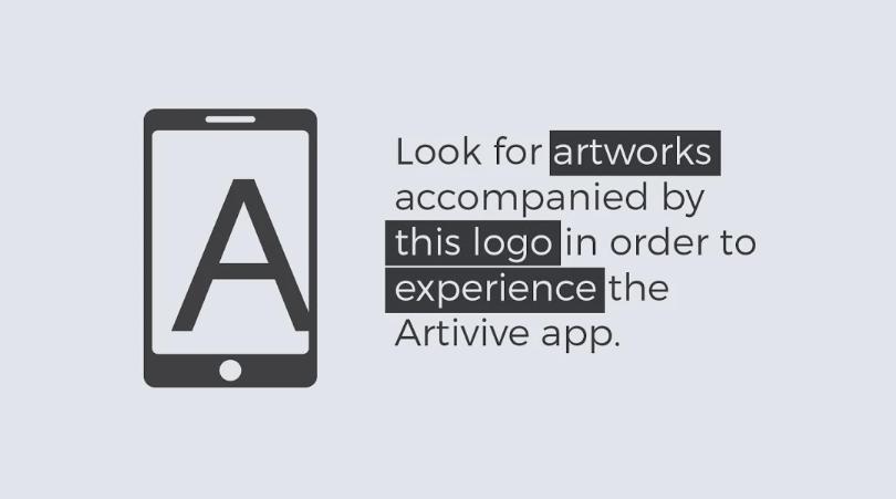 Screenshot of Artivive App
