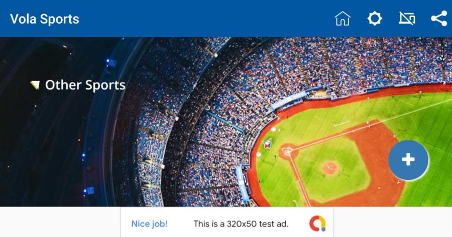 Screenshot of Vola Sport App