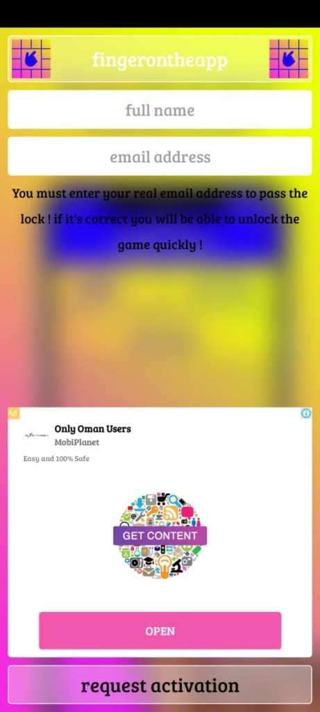 Screenshot of Finger On The App Download