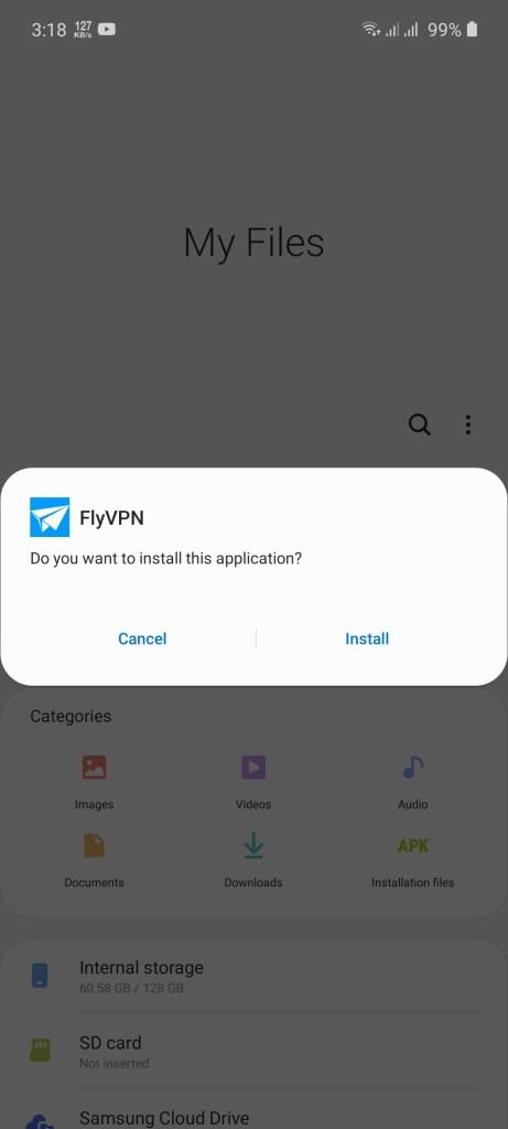 Screenshot of FlyVPN Mod