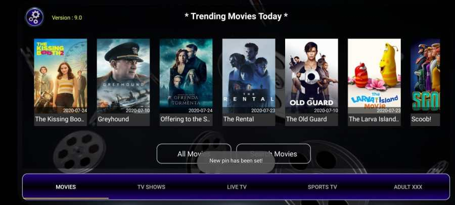 Screenshot of Strix TV App