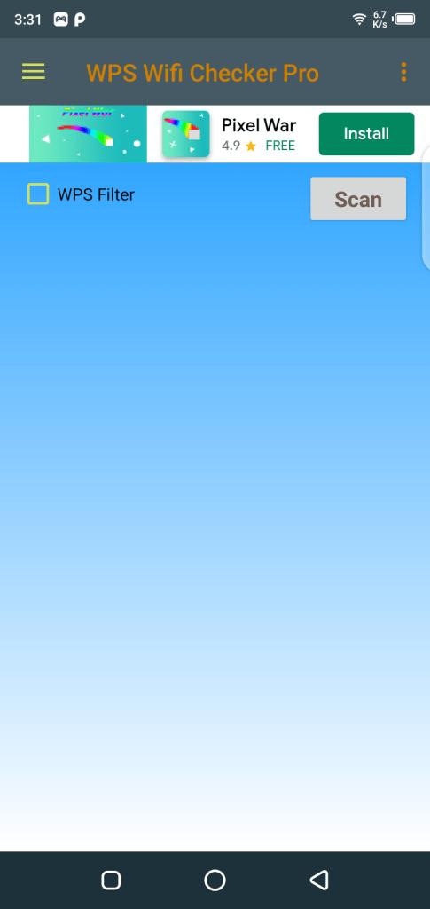 Screenshot of WPS Wifi Checker Pro App