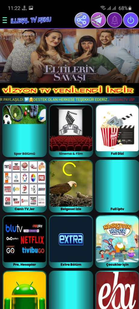 Screenshot of ILLEGAL TV VIP Apk