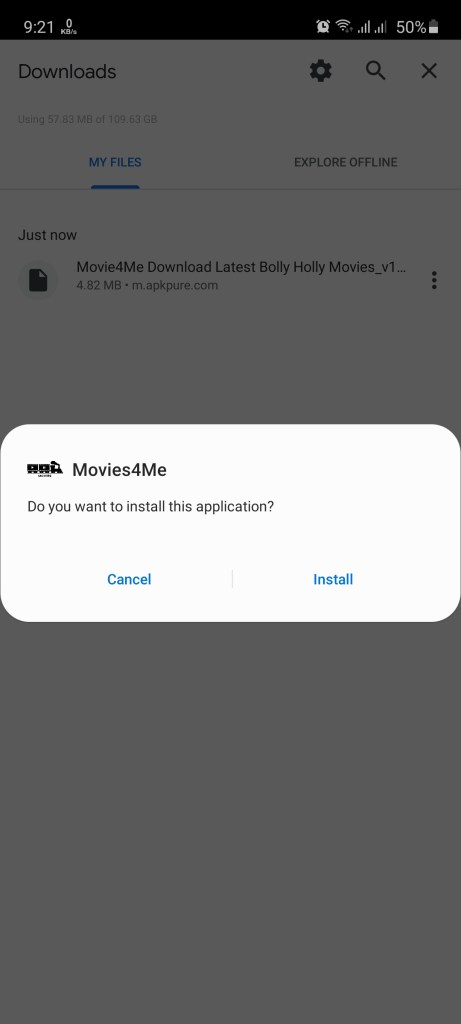Screenshot of Movie4me
