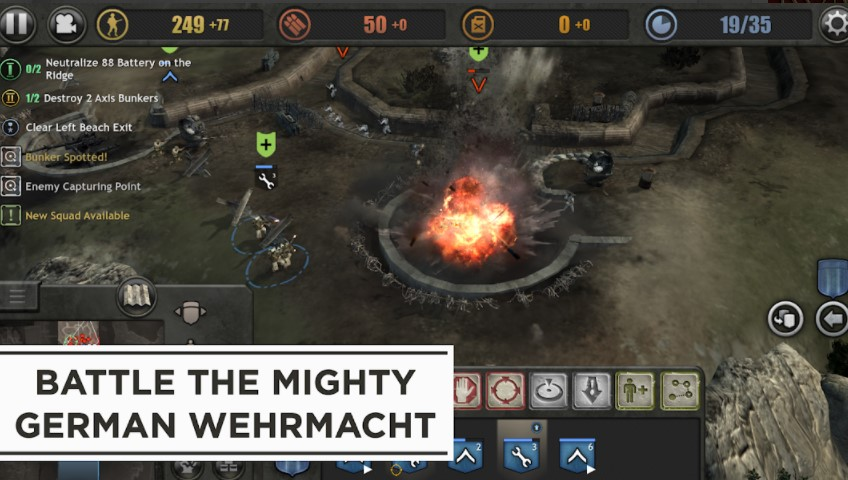 Screenshot of Company of Heroes Mod Apk
