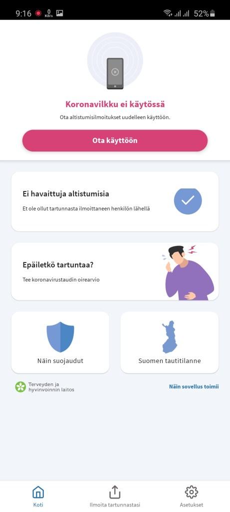 Screenshot of Koronavilkku App Download