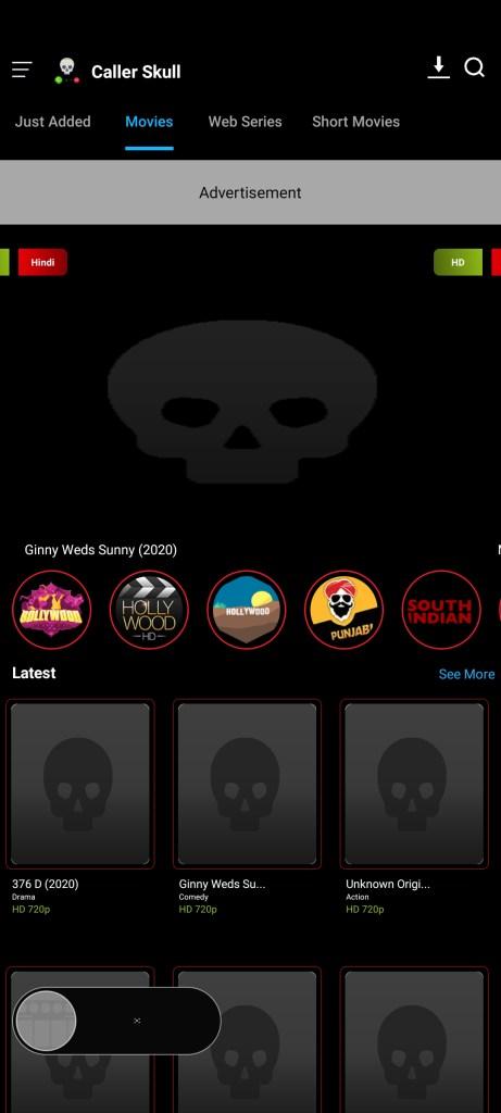Screenshot of Caller Skull Apk