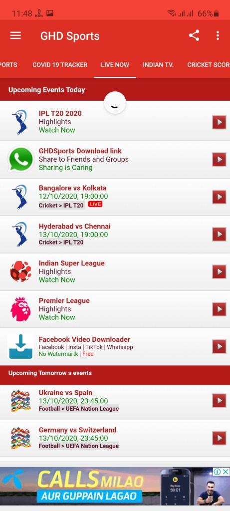 Screenshot of GHD Sports Premium Apk