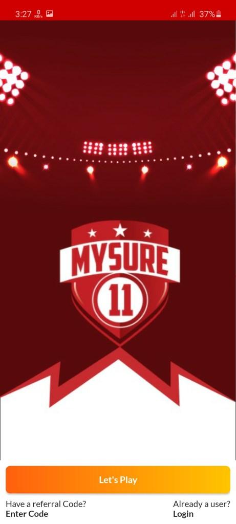 Screenshot of MySure11
