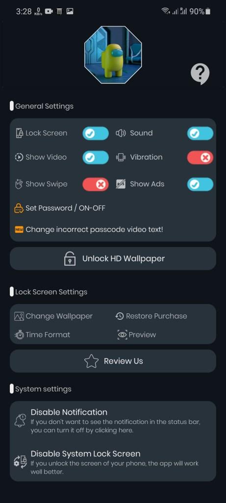 Screenshot of Among Us LockScreen Apk