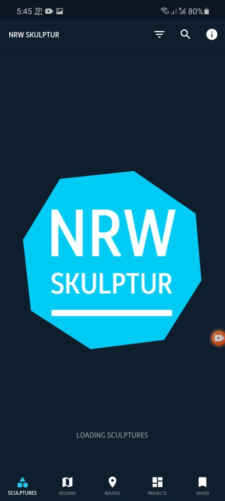 Screenshot of NRW Kultur