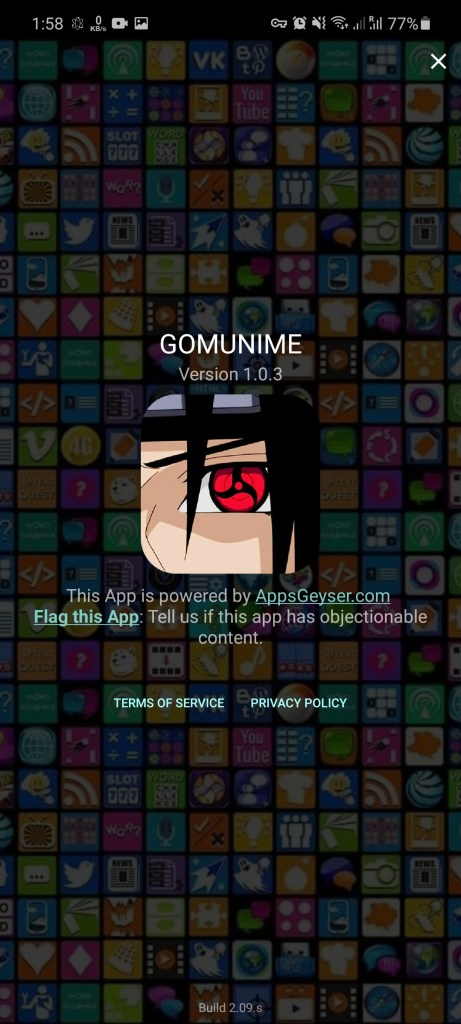 Screenshot of Gomunime For Android