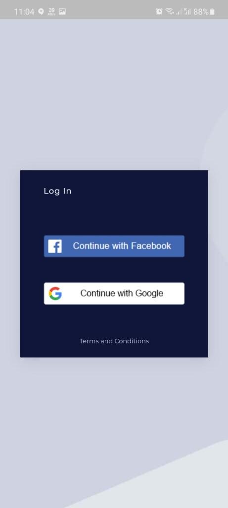 Screenshot of GramFree App