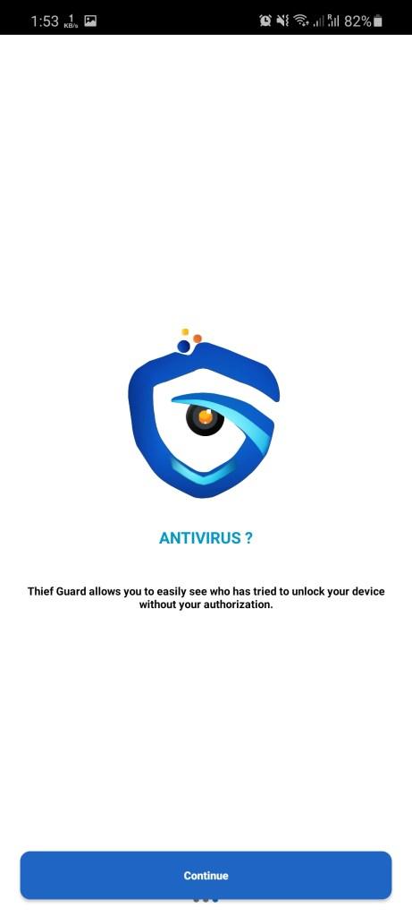 Screenshot of Thief Guard App