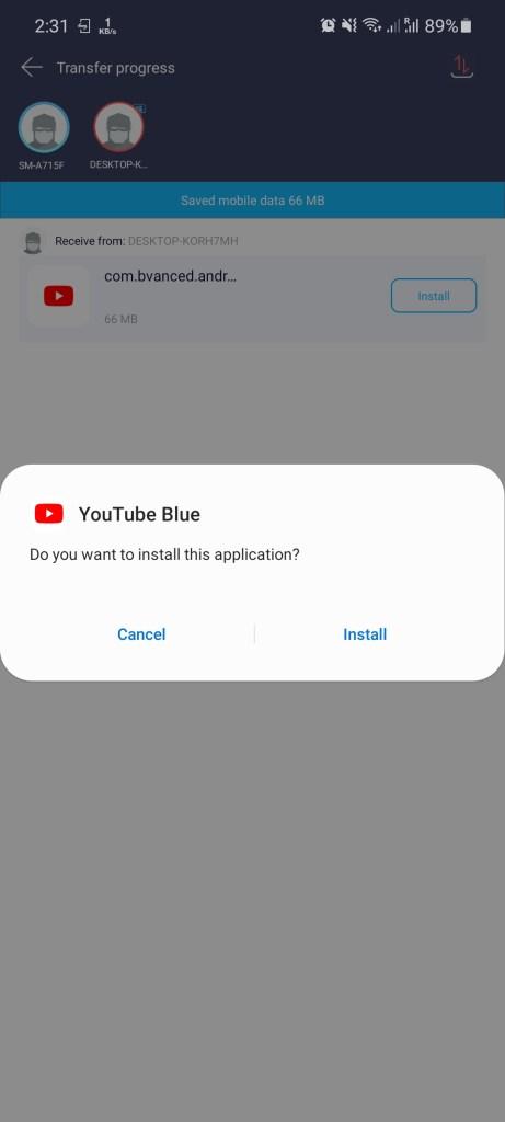 Screenshot of YouTube Blue Apk