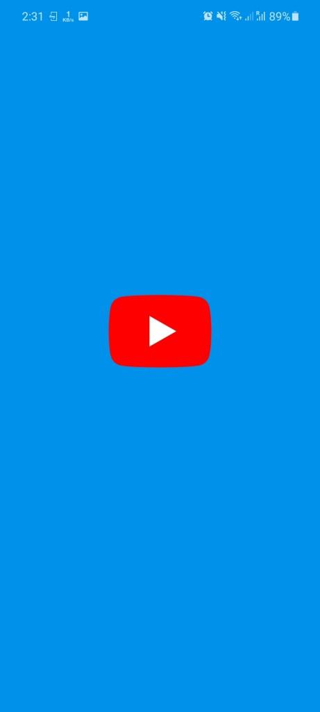 Screenshot of YouTube Blue App