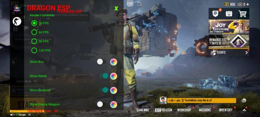 Screenshot of Dragon ESP
