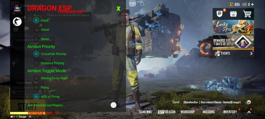 Screenshot of Dragon ESP Apk