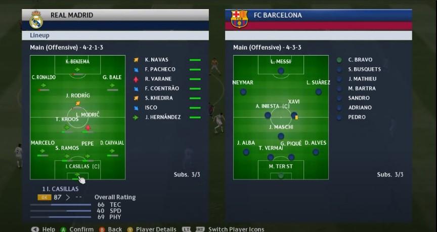 Screenshot of PES 15 Game