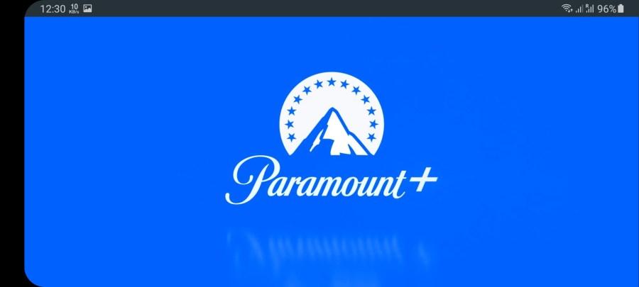 Screenshot of Paramount Plus App