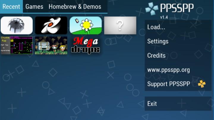Screenshots of PPSSPP Apk