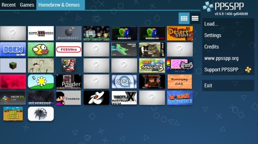 Screenshots of PPSSPP Download