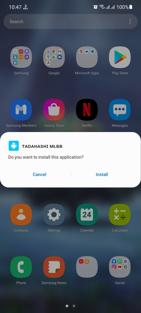Screenshot of Tadahashi MLBB