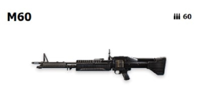 Screenshot of Top 5 Weapons Garena Free Fire M60