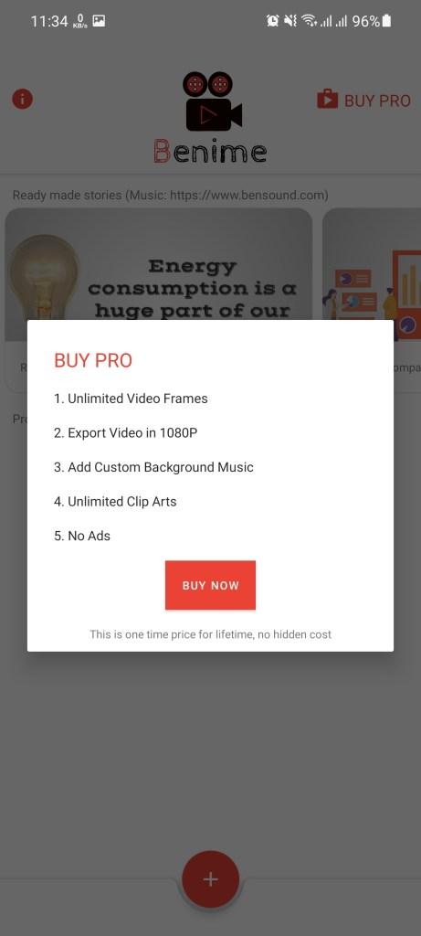 Screenshot of Benime Download